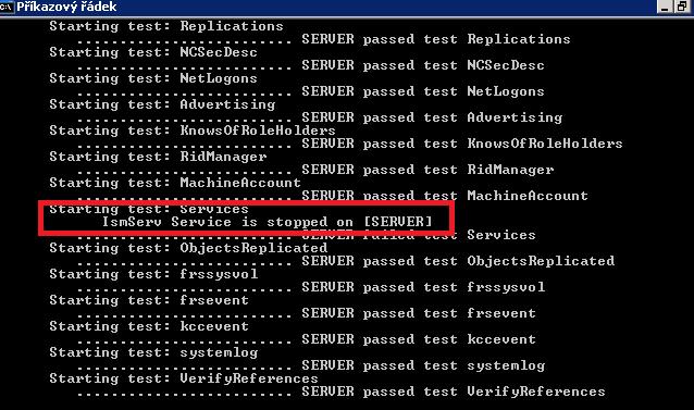 dcdiag.exe for windows 2003