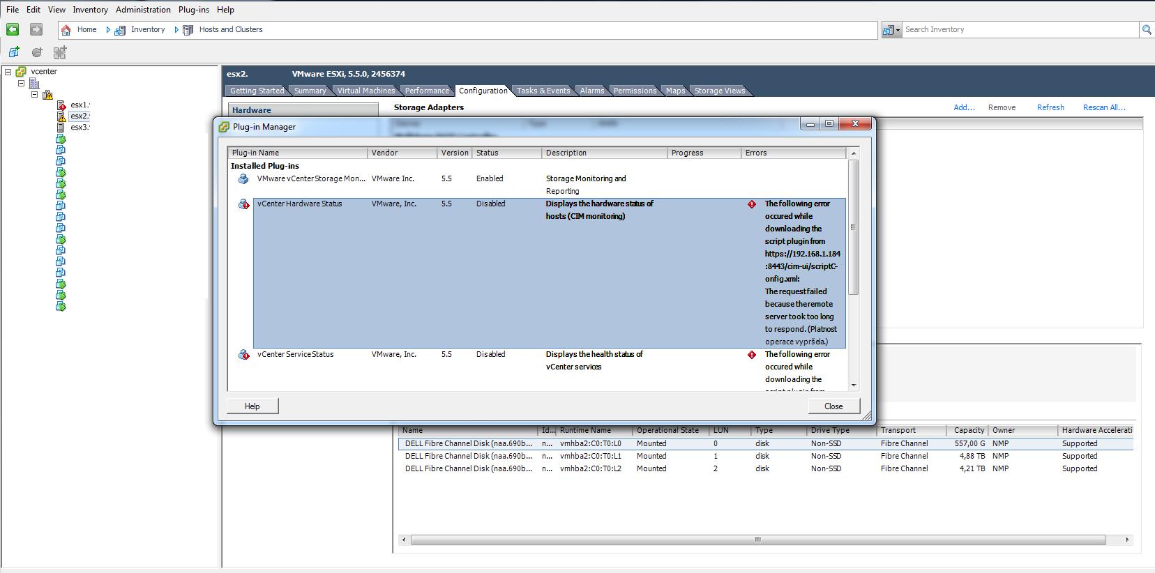 Vcenter Server Appliance Hardware Status Tab Is Missing