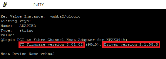 how to update firmware on hpe server esxi host