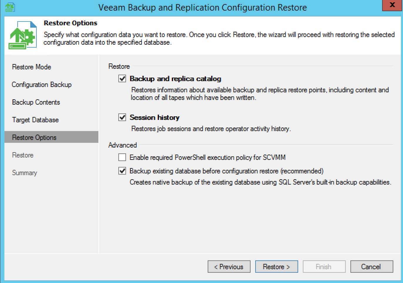Migrate Veeam Backup and Replication 9 Server to new Server