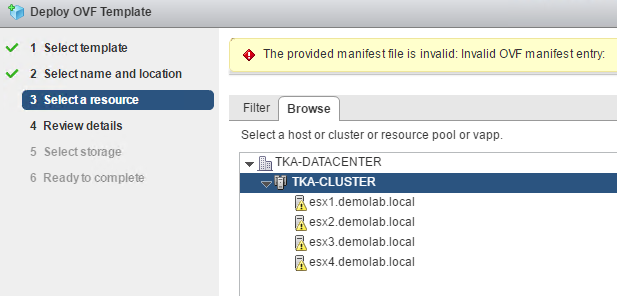 Dell Storage Manager Virtual Appliance - The provided manifest file