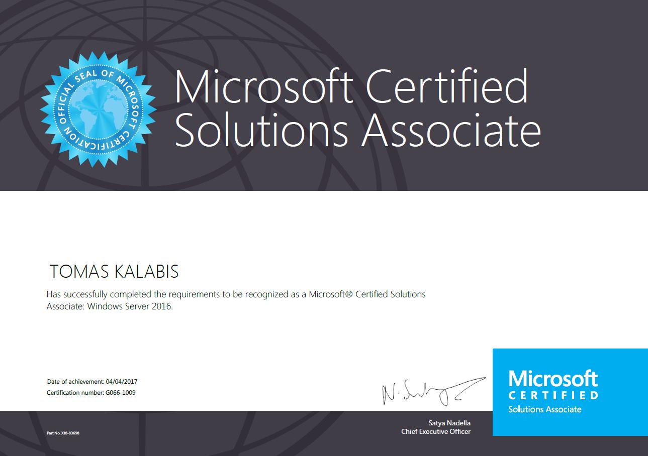 Im mcsa windows server 2016 solutions associate tomaskalabis im mcsa windows server 2016 solutions associate 1betcityfo Image collections