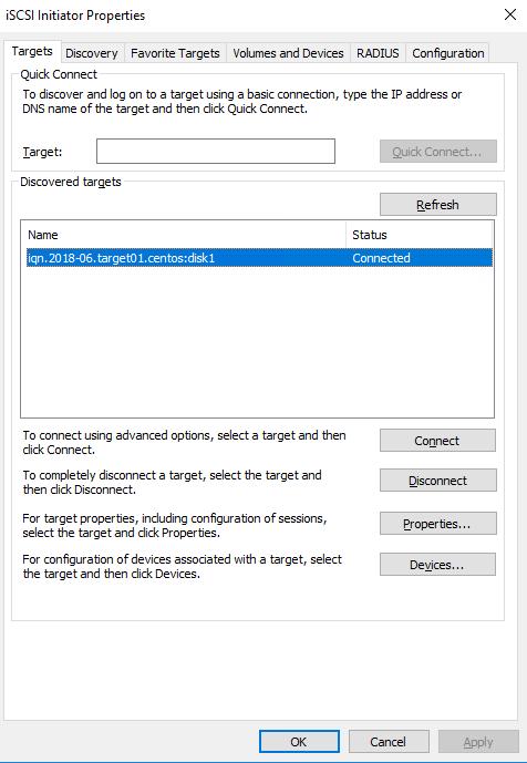 Configure iSCSI Target on Centos 7 & Initiator on Windows